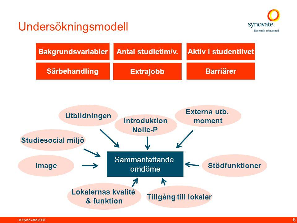 Undersökningsmodell Utbildning Sammanfattande Sambandsanalys omdöme