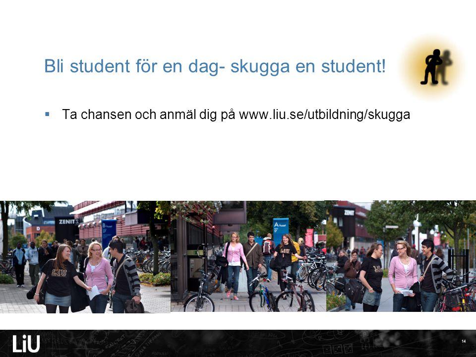 Bli student för en dag- skugga en student!