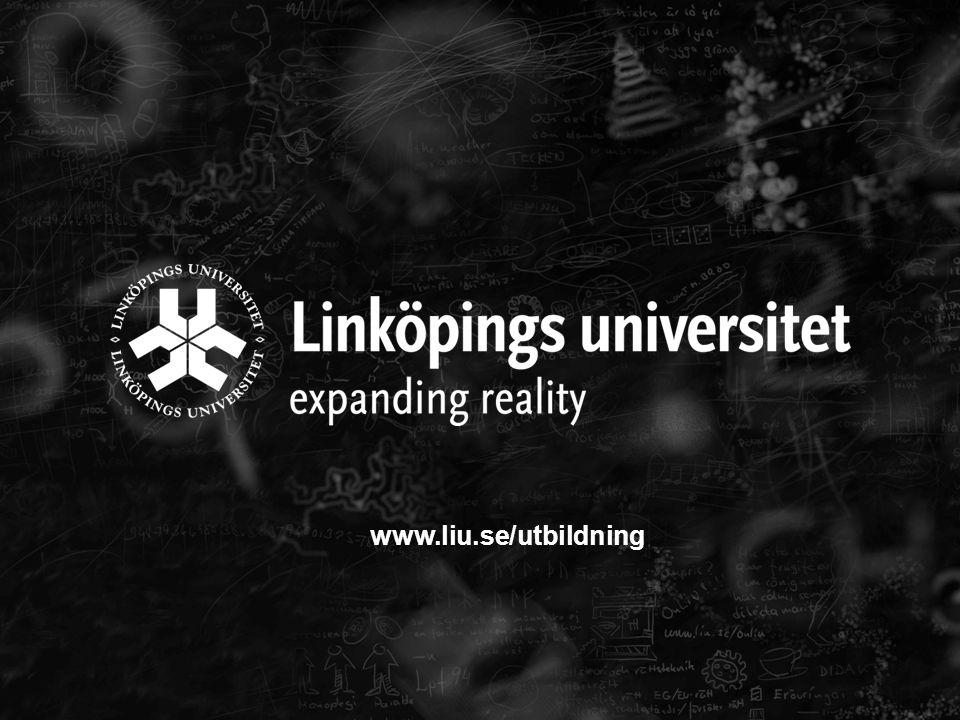 www.liu.se/utbildning 17