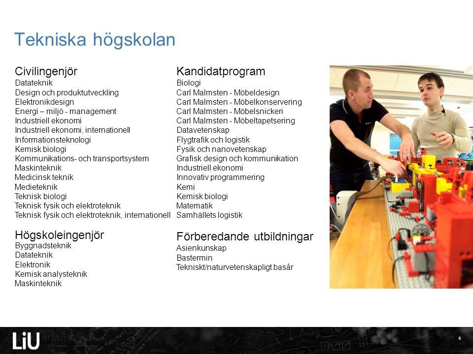 Tekniska högskolan Civilingenjör Kandidatprogram