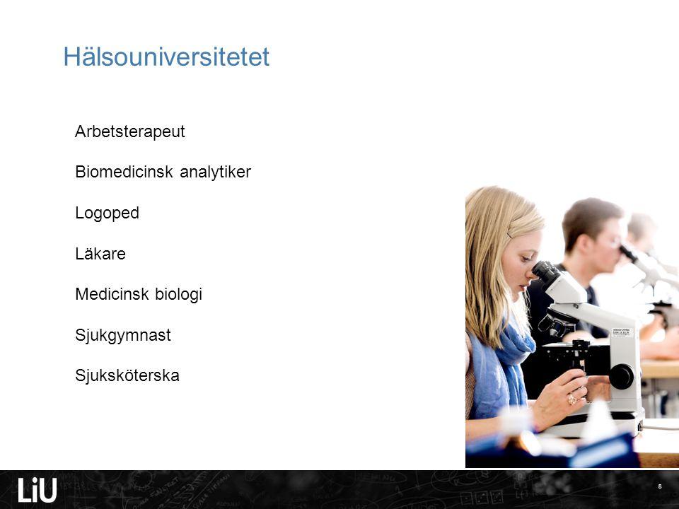 Hälsouniversitetet Arbetsterapeut Biomedicinsk analytiker Logoped
