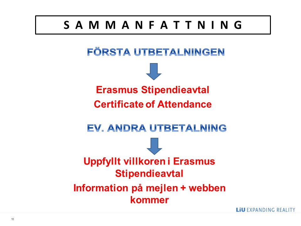 S A M M A N F A T T N I N G Erasmus Stipendieavtal