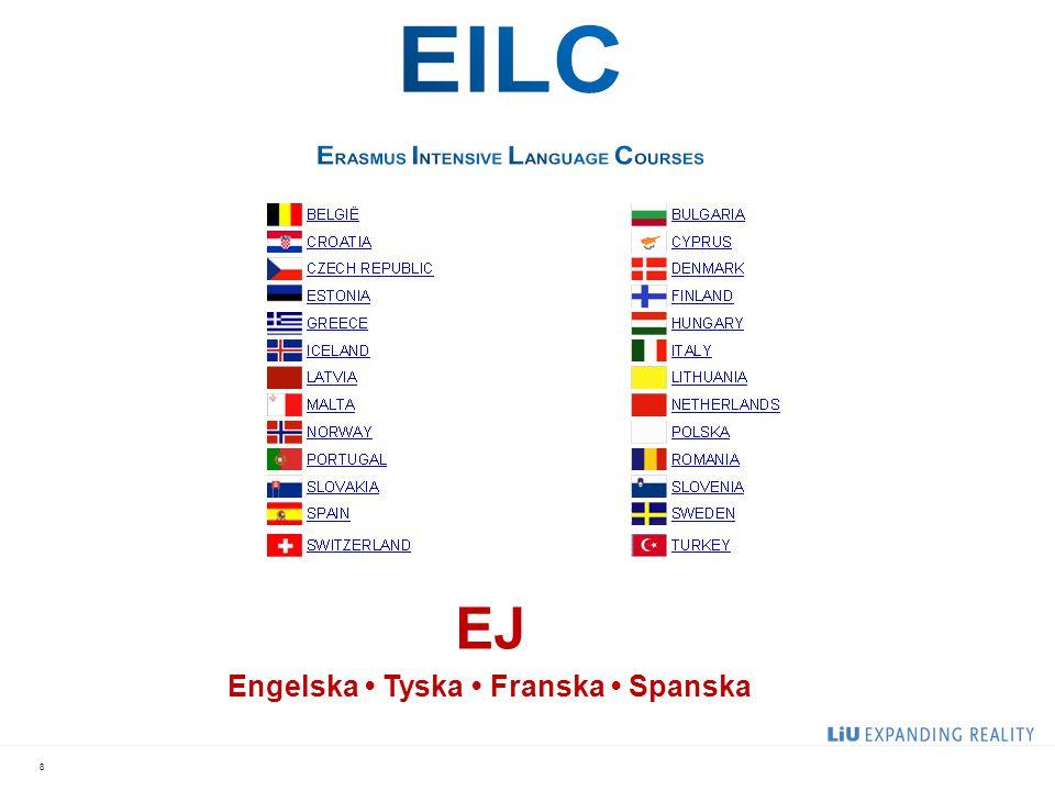Engelska • Tyska • Franska • Spanska