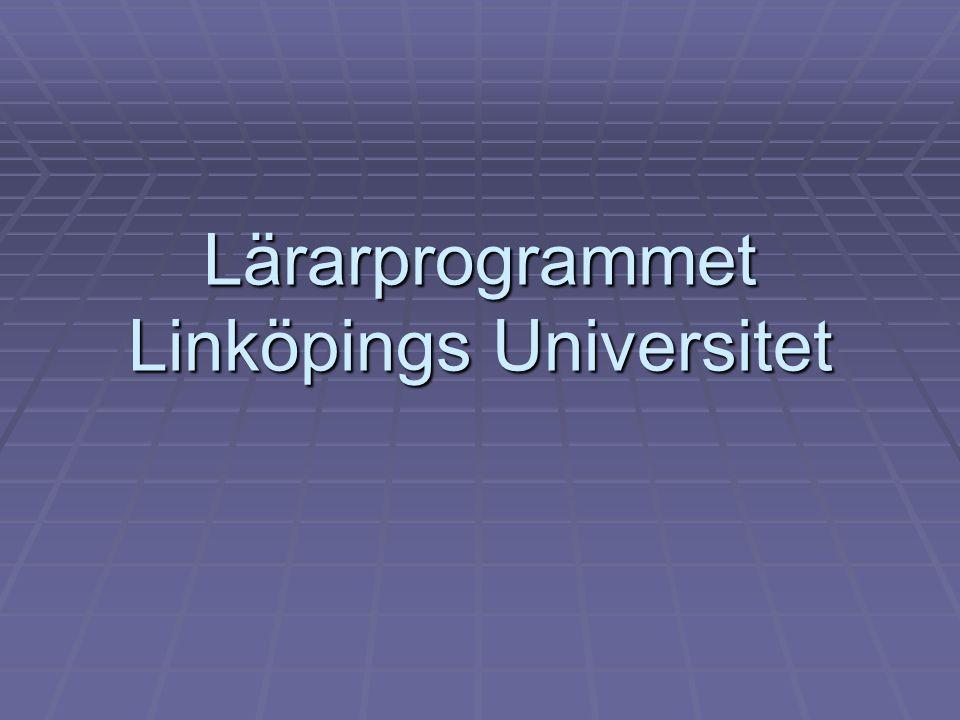 Lärarprogrammet Linköpings Universitet