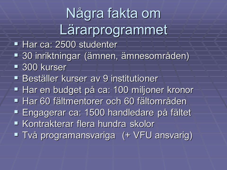 Några fakta om Lärarprogrammet