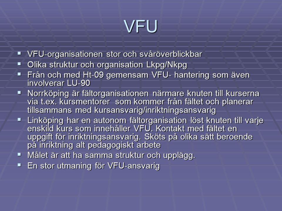 VFU VFU-organisationen stor och svåröverblickbar