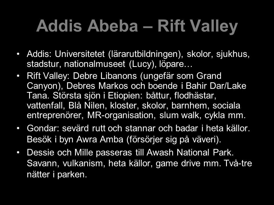 Addis Abeba – Rift Valley