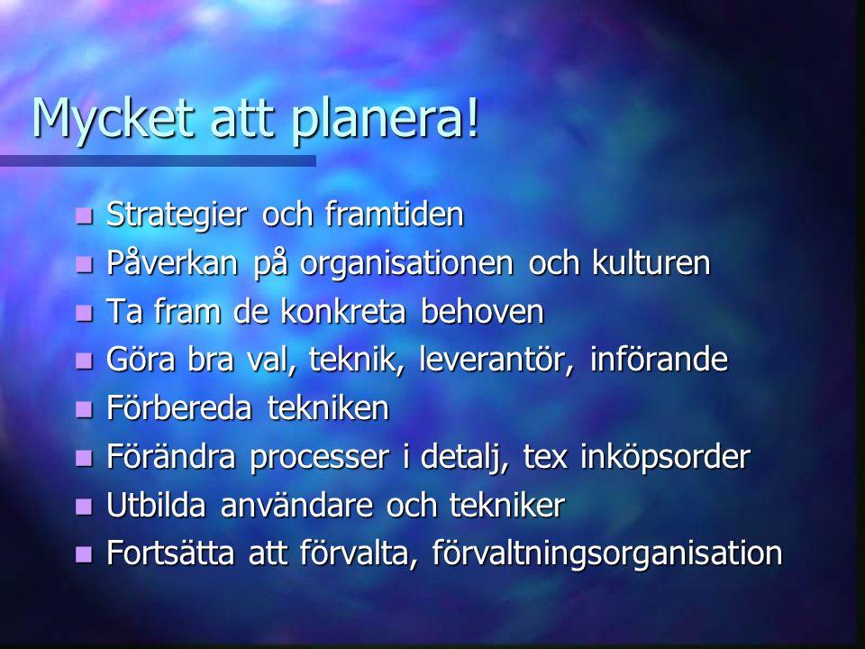 Mycket att planera! Strategier och framtiden
