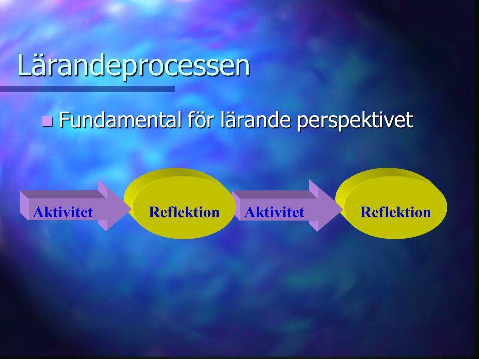 Lärandeprocessen Fundamental för lärande perspektivet Aktivitet
