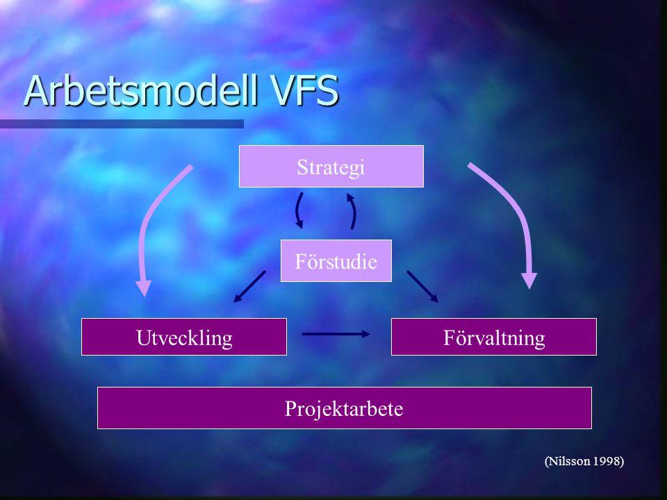Arbetsmodell VFS Strategi Förstudie Utveckling Förvaltning