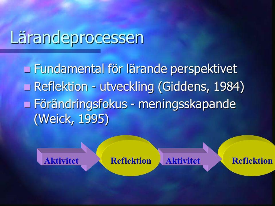 Lärandeprocessen Fundamental för lärande perspektivet