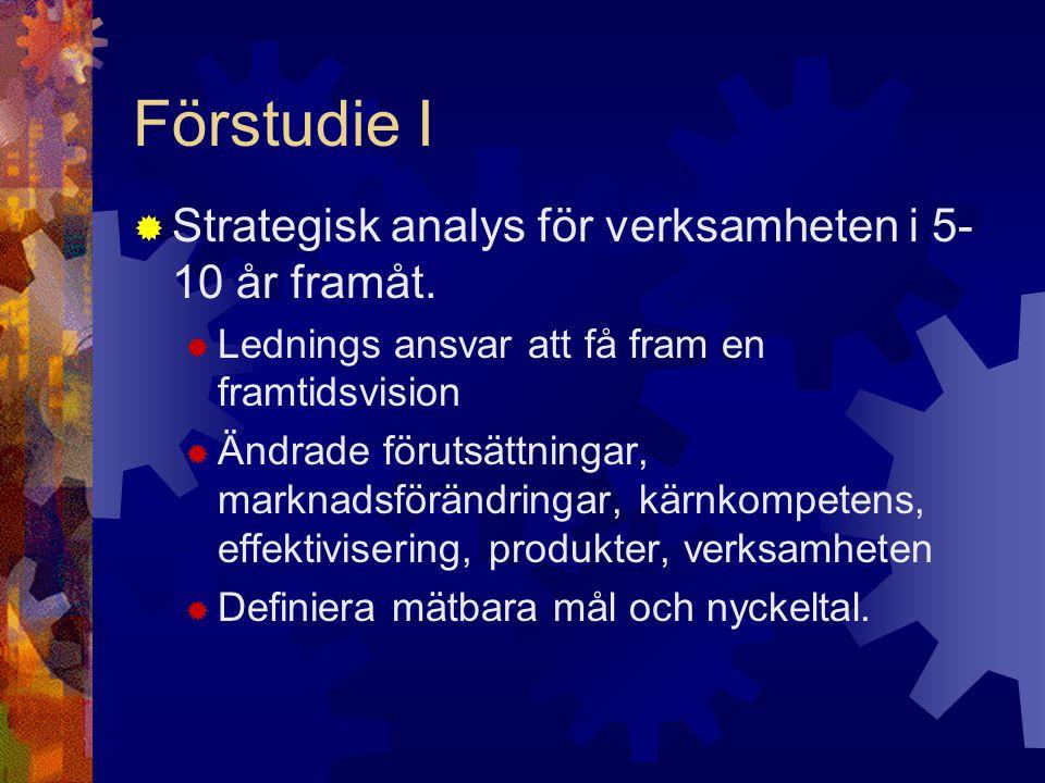 Förstudie I Strategisk analys för verksamheten i 5-10 år framåt.