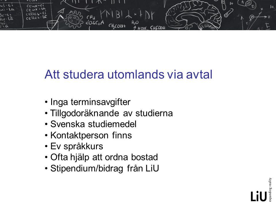 Att studera utomlands via avtal