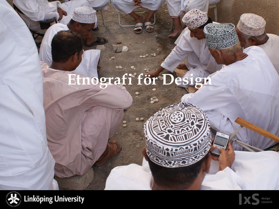 Etnografi för Design