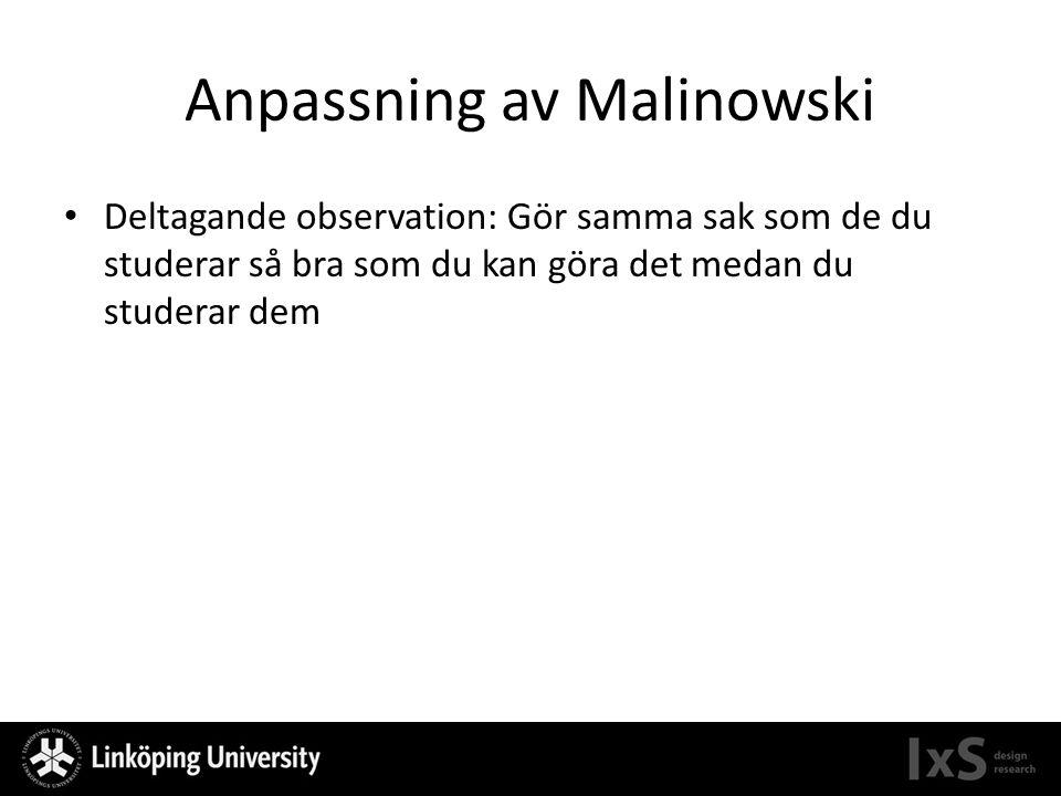 Anpassning av Malinowski