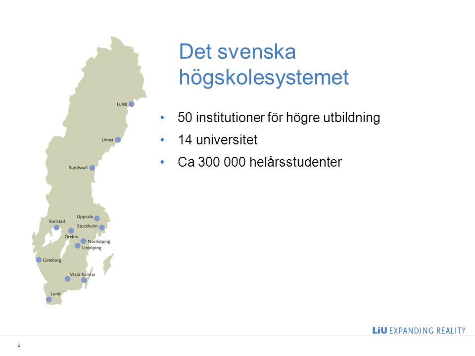 Det svenska högskolesystemet