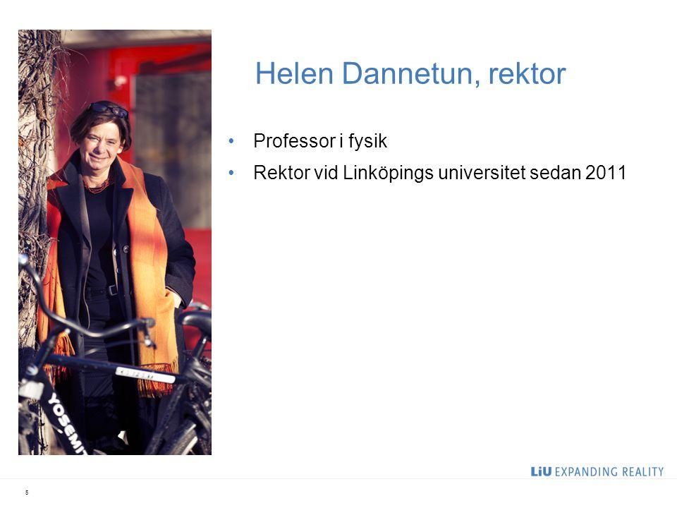 Helen Dannetun, rektor Professor i fysik