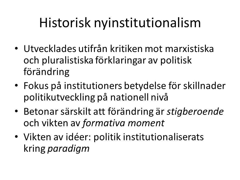 Historisk nyinstitutionalism