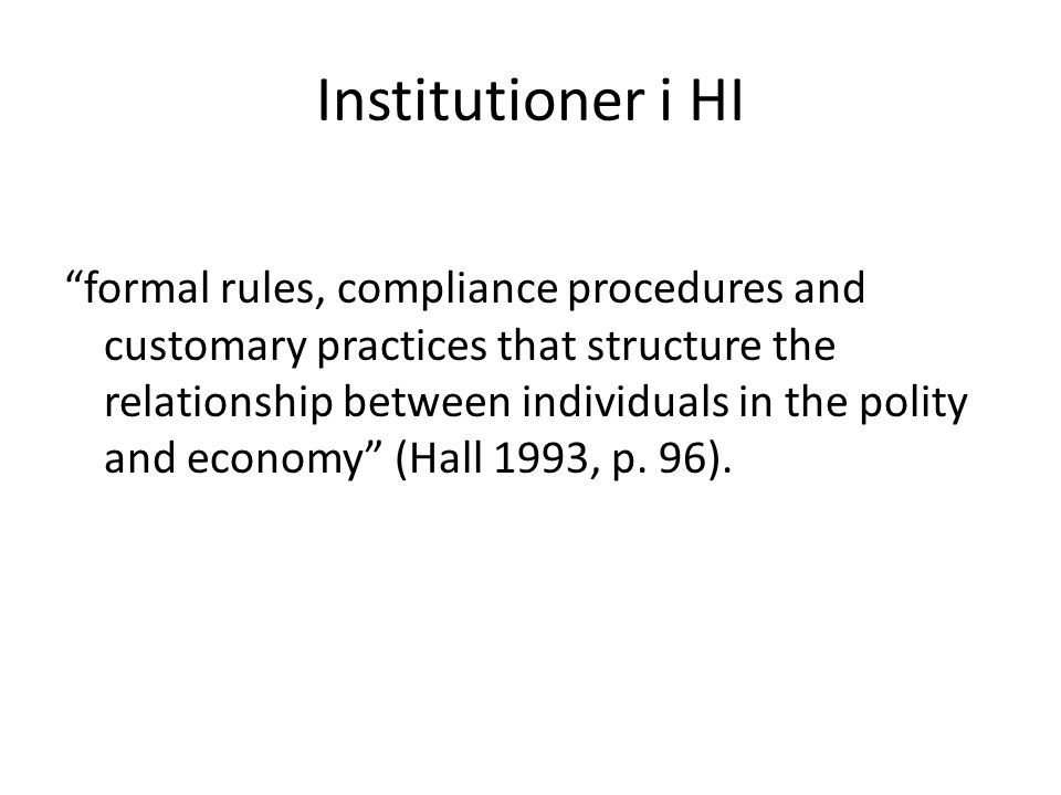 Institutioner i HI