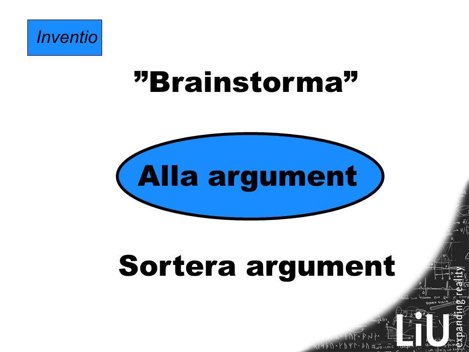 Inventio Brainstorma Alla argument Sortera argument