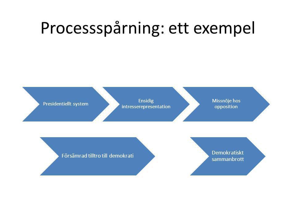 Processspårning: ett exempel