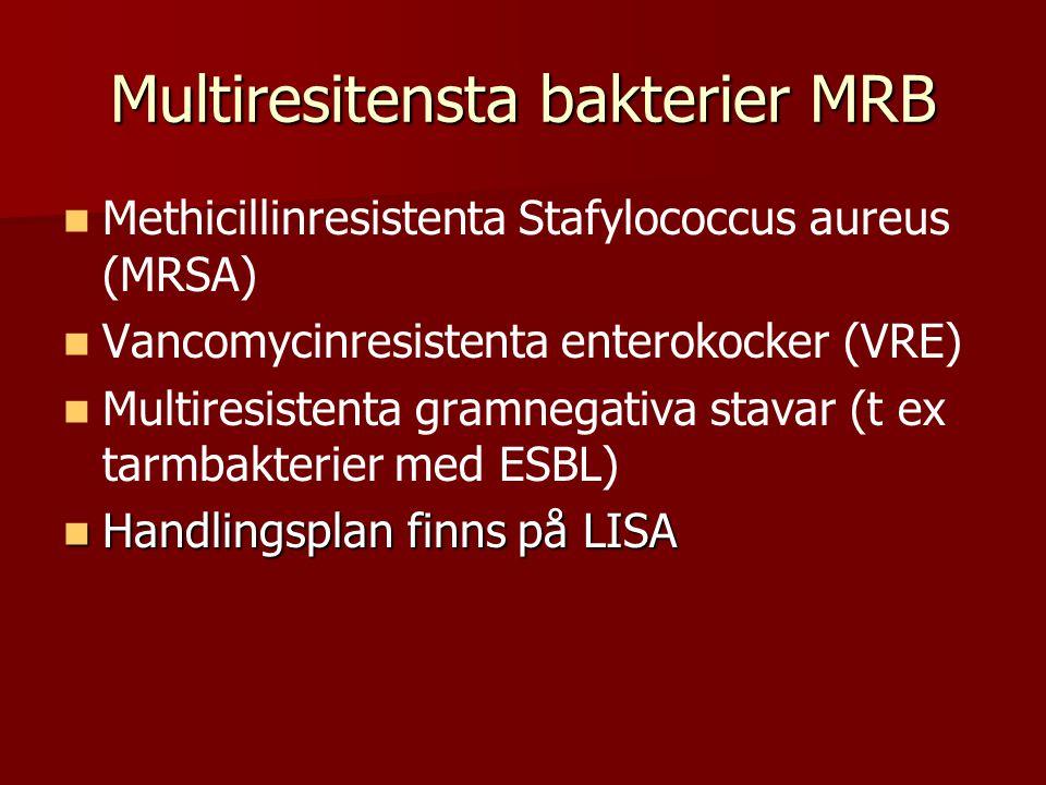Multiresitensta bakterier MRB