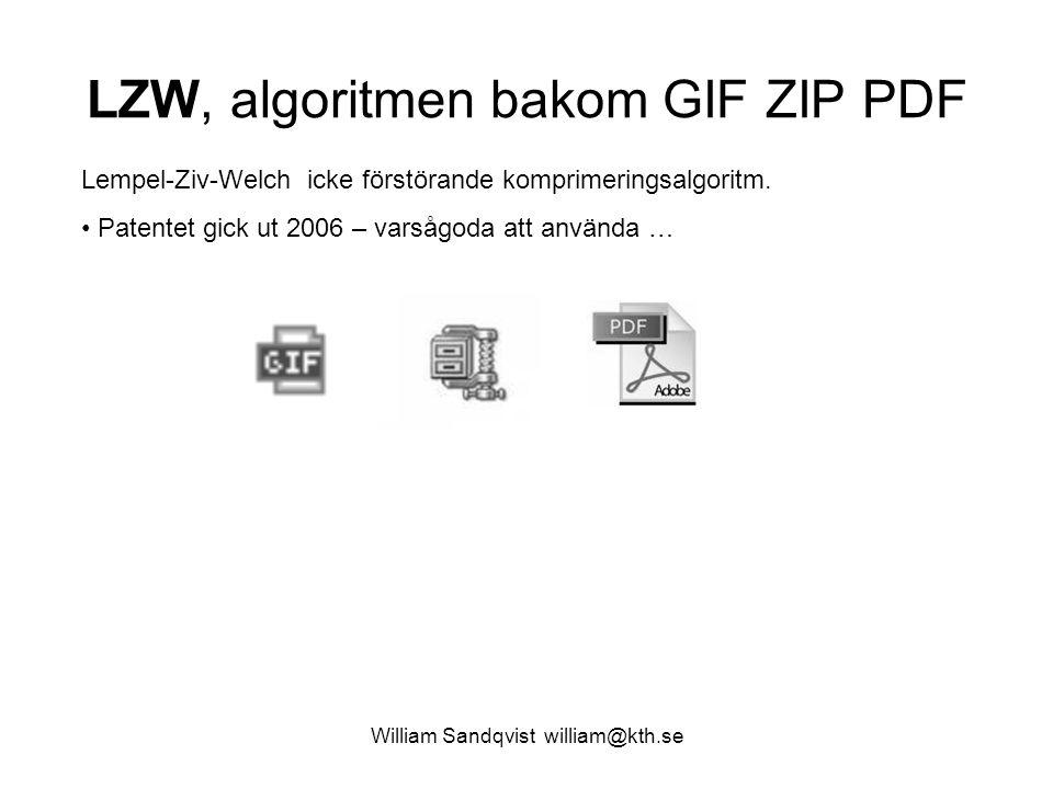 LZW, algoritmen bakom GIF ZIP PDF