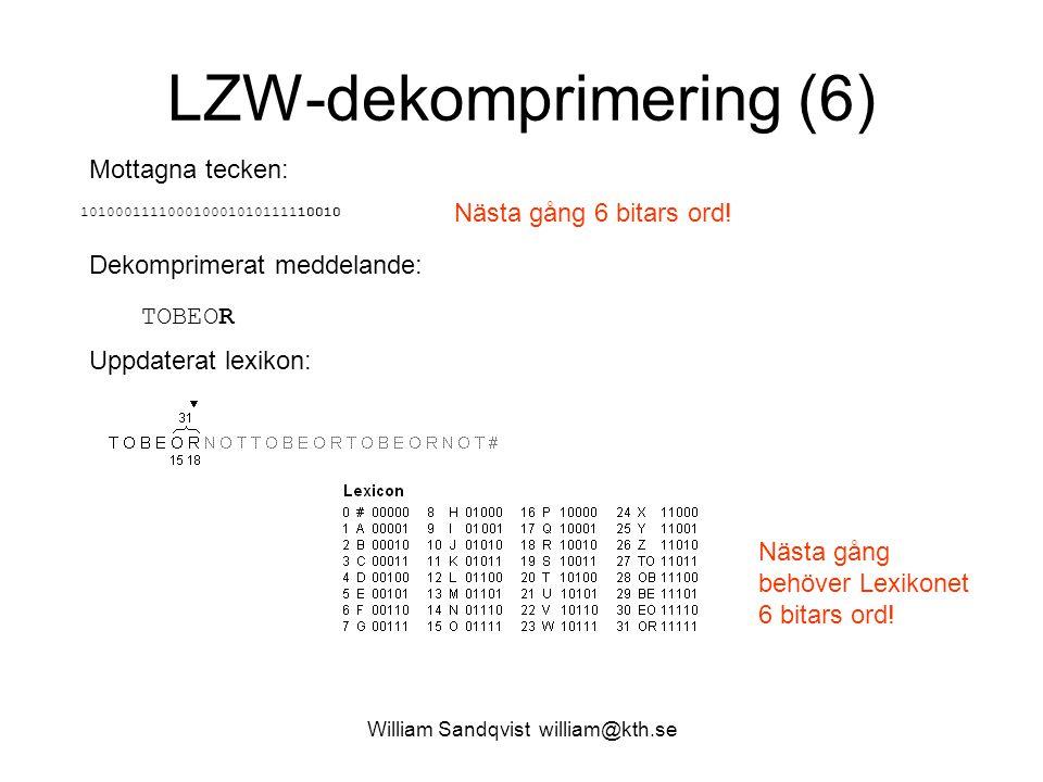 LZW-dekomprimering (6)