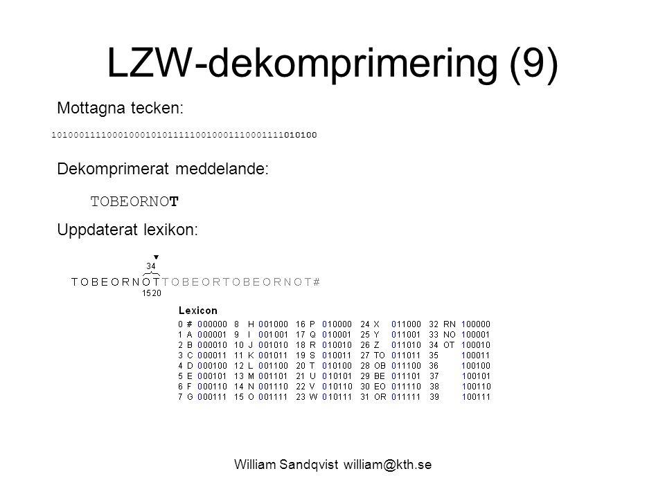 LZW-dekomprimering (9)