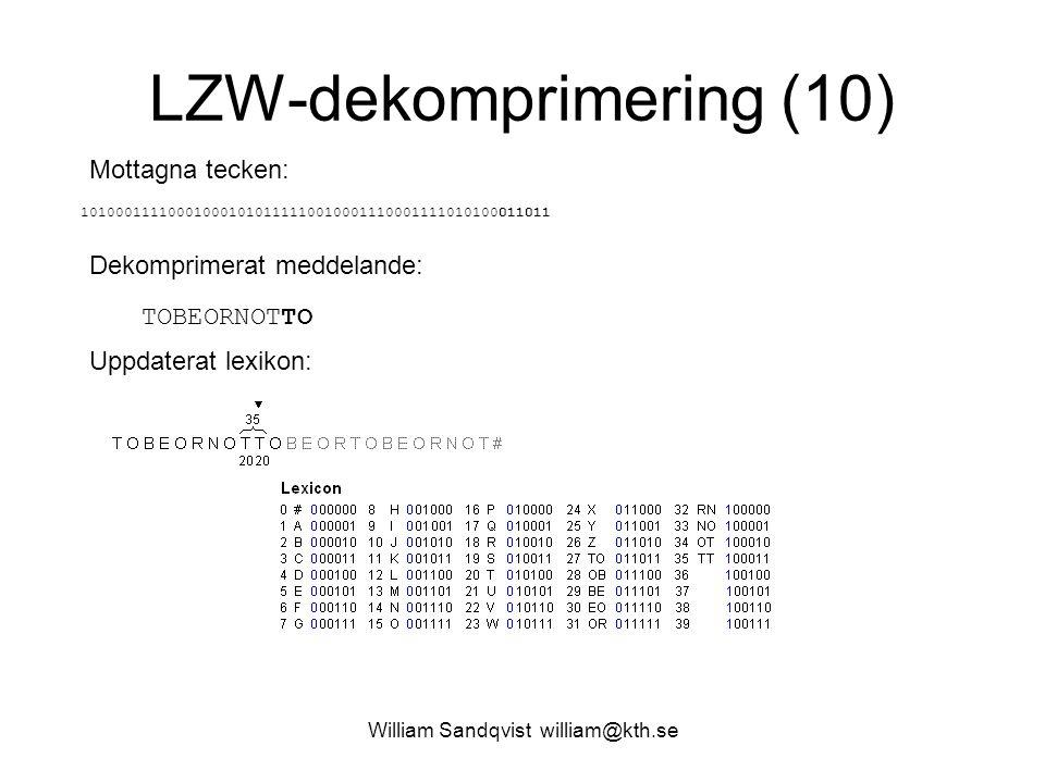 LZW-dekomprimering (10)