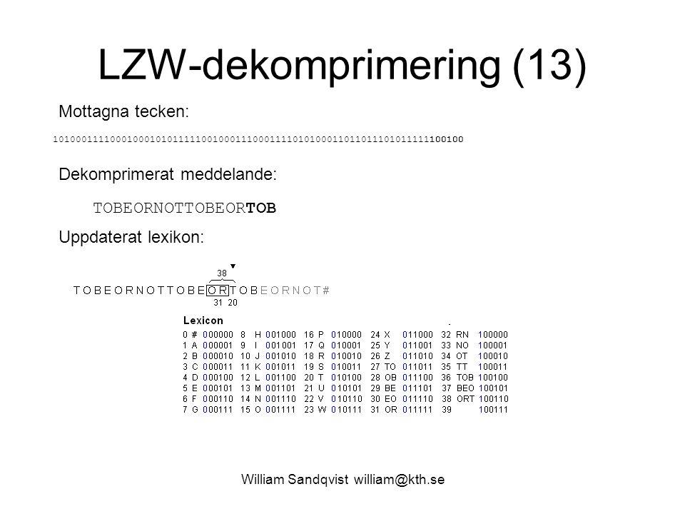 LZW-dekomprimering (13)