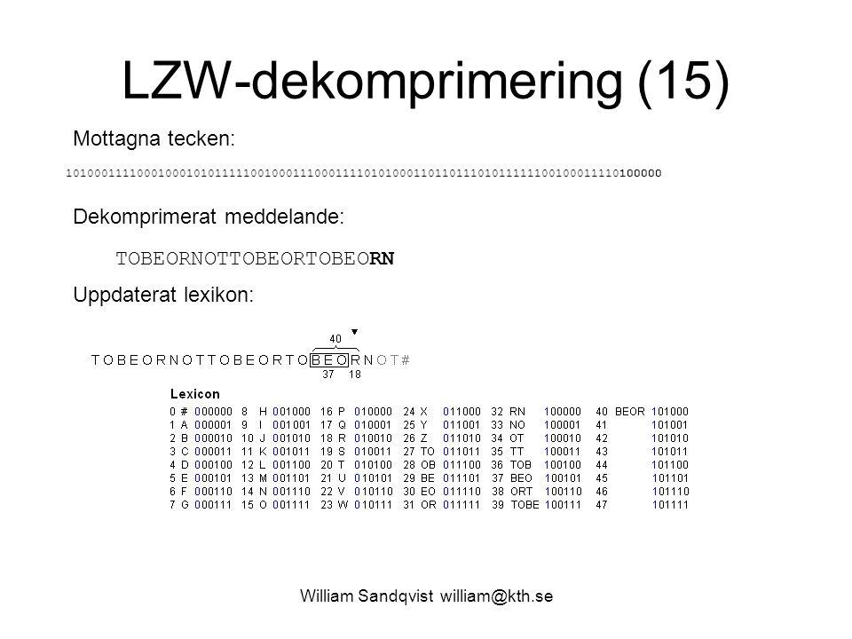 LZW-dekomprimering (15)