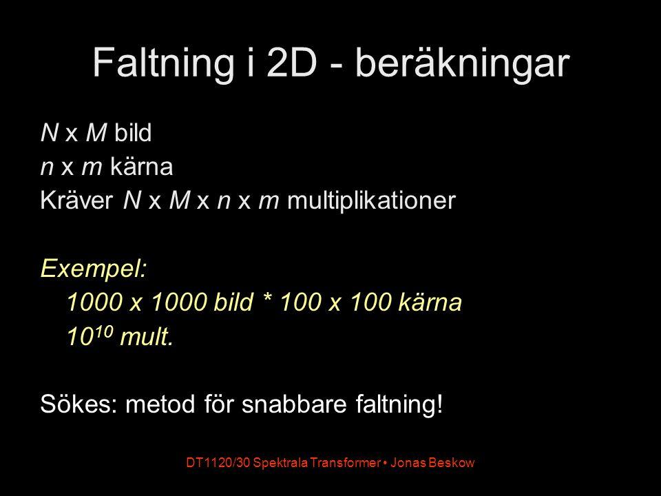 Faltning i 2D - beräkningar