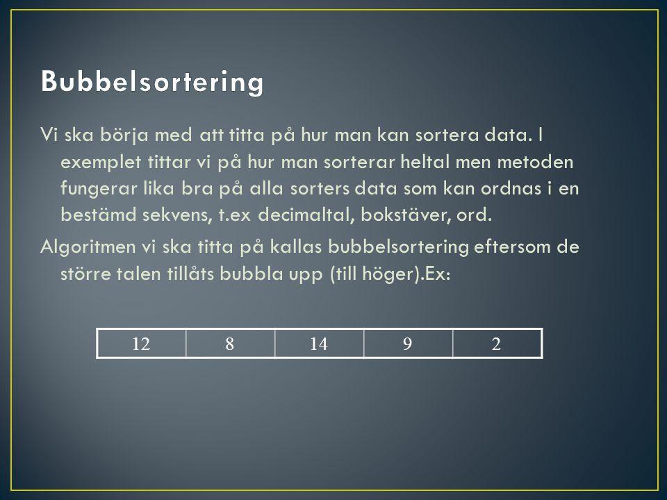 Bubbelsortering