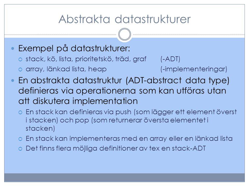 Abstrakta datastrukturer
