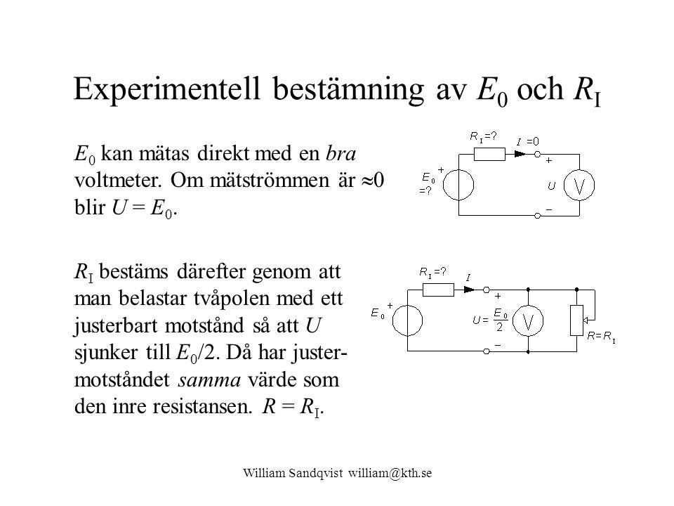 Experimentell bestämning av E0 och RI