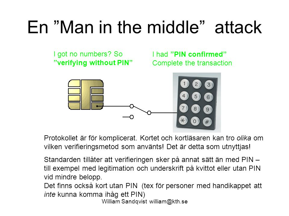 En Man in the middle attack