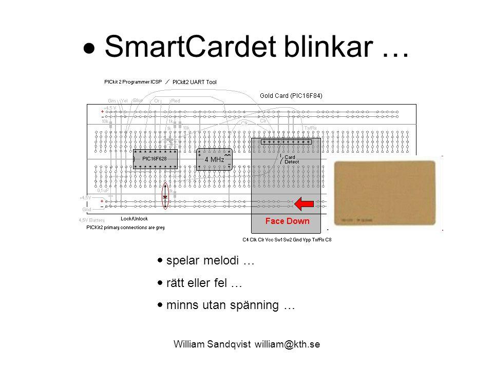  SmartCardet blinkar …