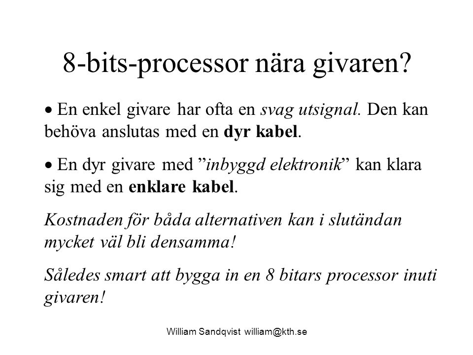 8-bits-processor nära givaren