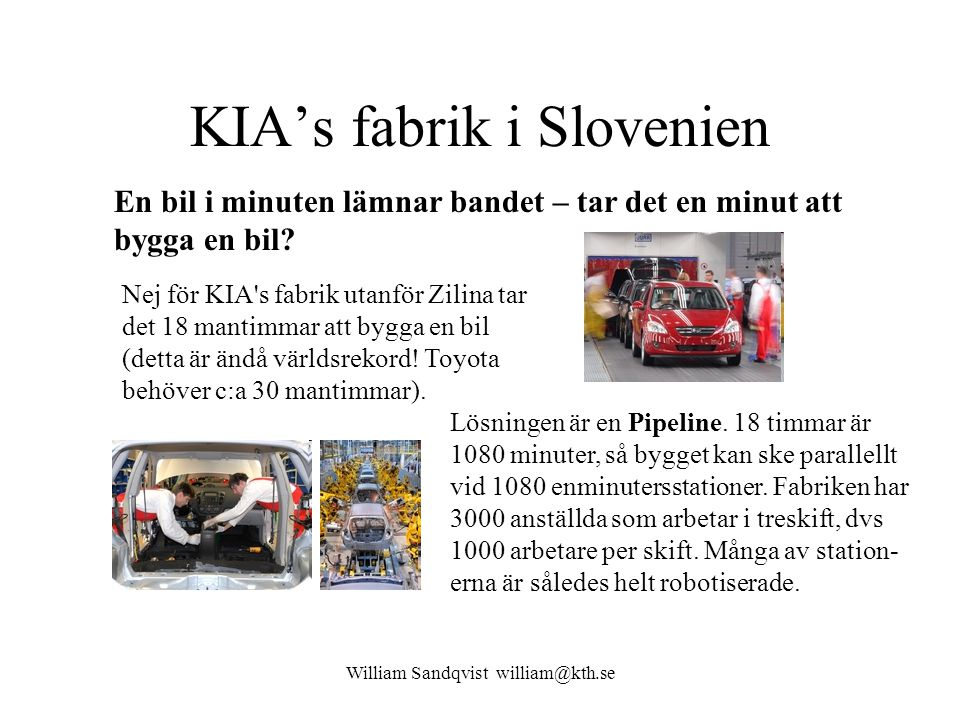 KIA's fabrik i Slovenien