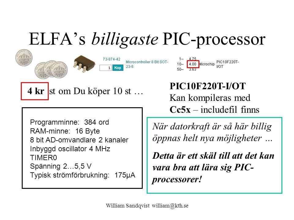 ELFA's billigaste PIC-processor