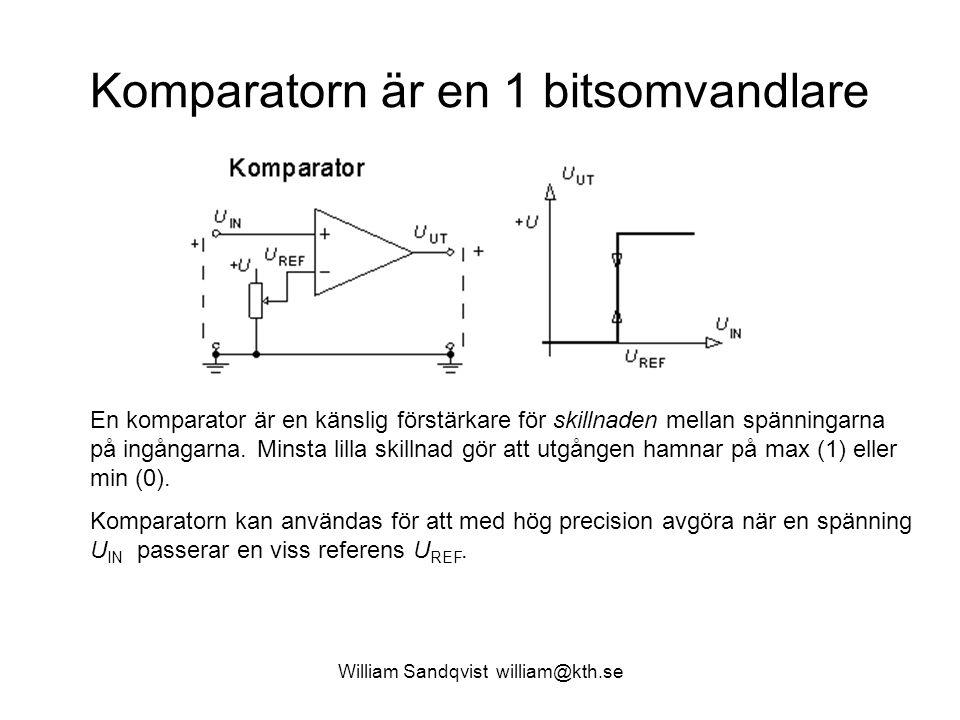 Komparatorn är en 1 bitsomvandlare