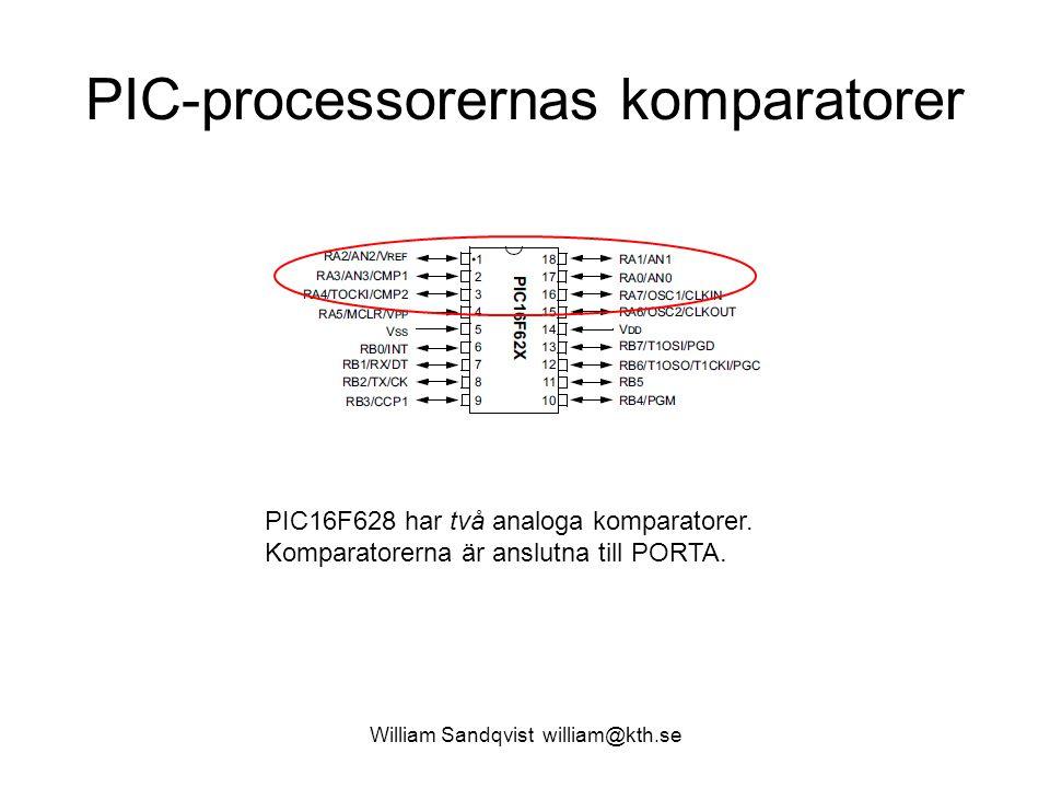 PIC-processorernas komparatorer