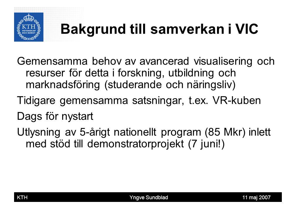 Bakgrund till samverkan i VIC