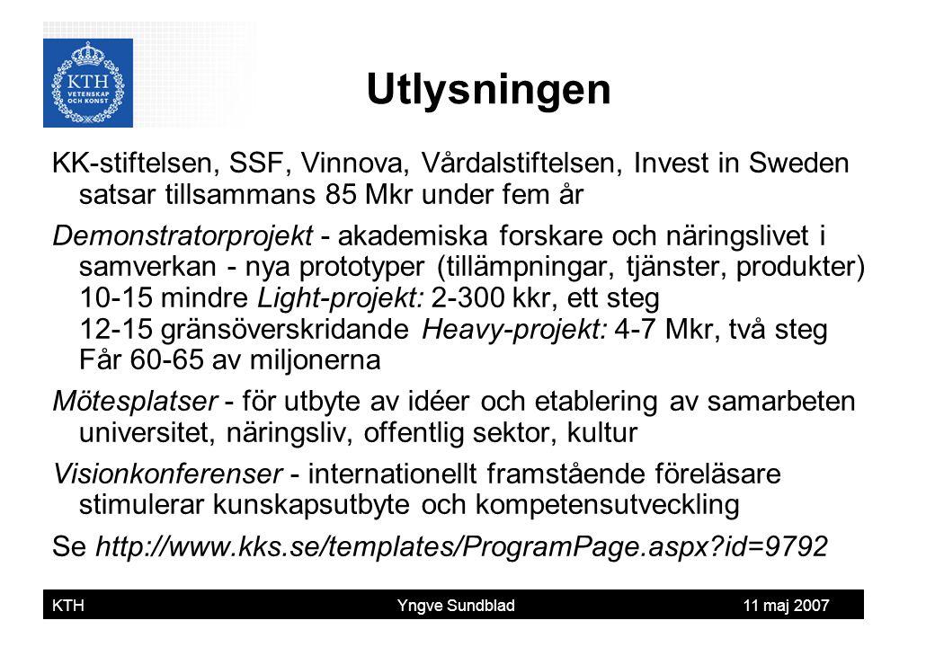 Utlysningen KK-stiftelsen, SSF, Vinnova, Vårdalstiftelsen, Invest in Sweden satsar tillsammans 85 Mkr under fem år.