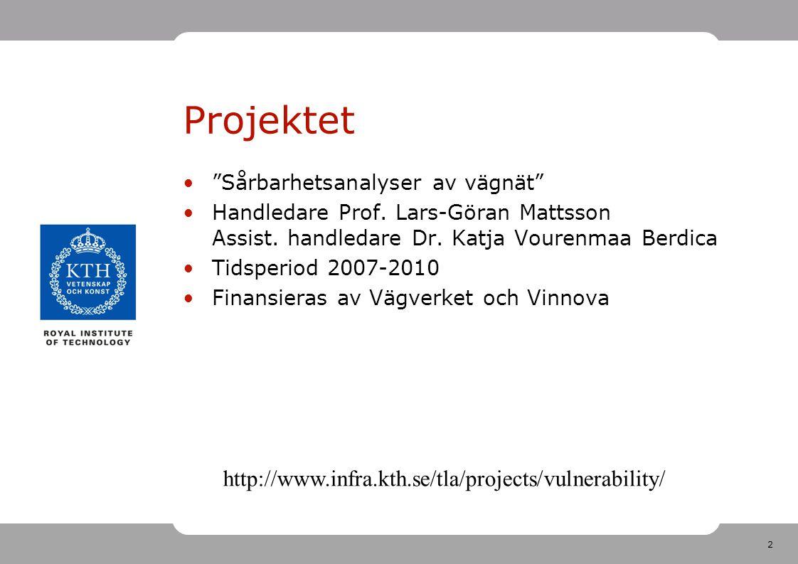 Projektet http://www.infra.kth.se/tla/projects/vulnerability/