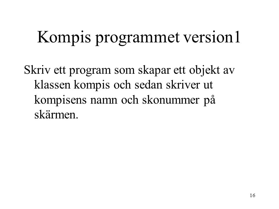 Kompis programmet version1