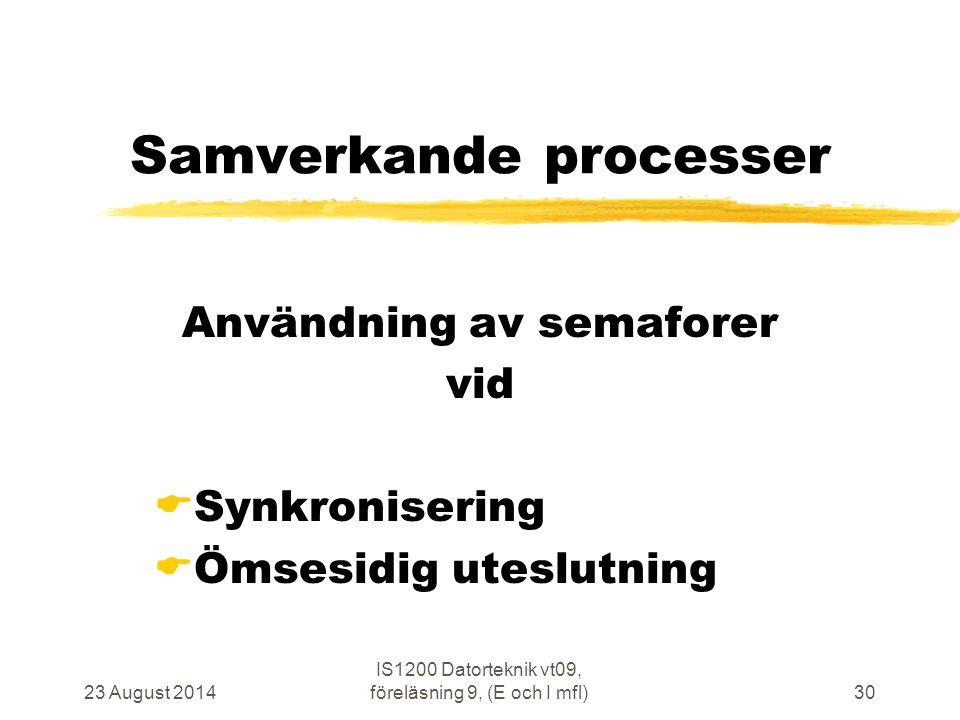 Samverkande processer