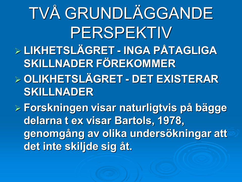 TVÅ GRUNDLÄGGANDE PERSPEKTIV