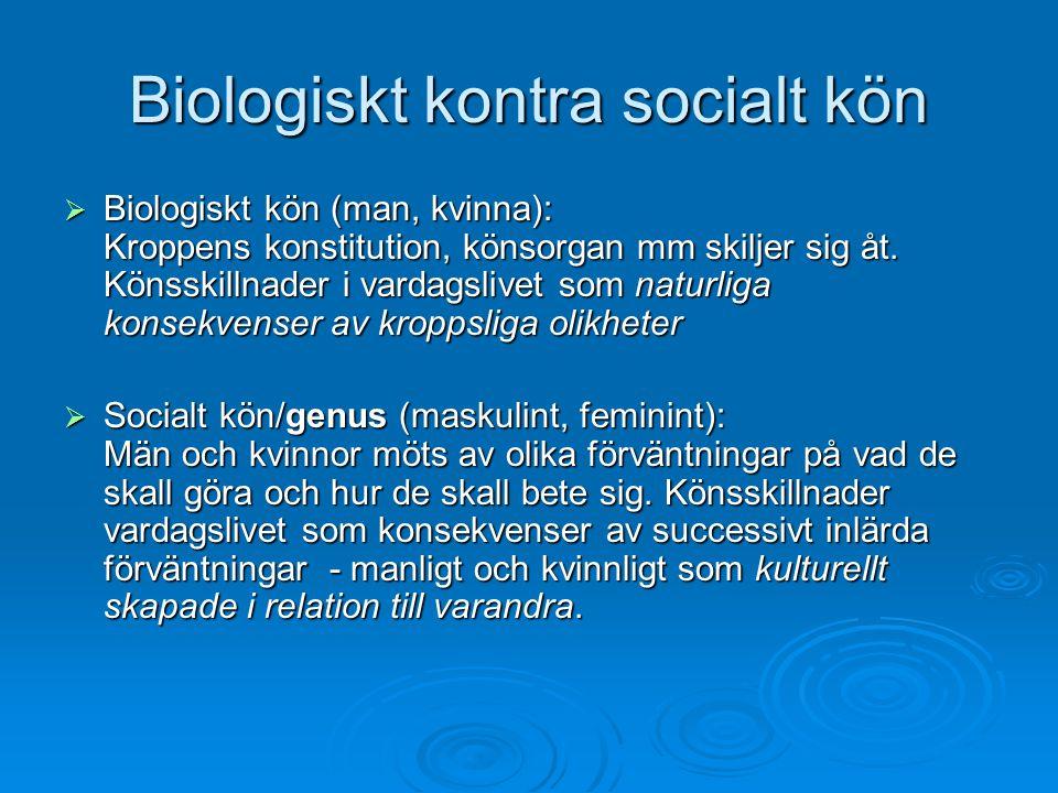 Biologiskt kontra socialt kön